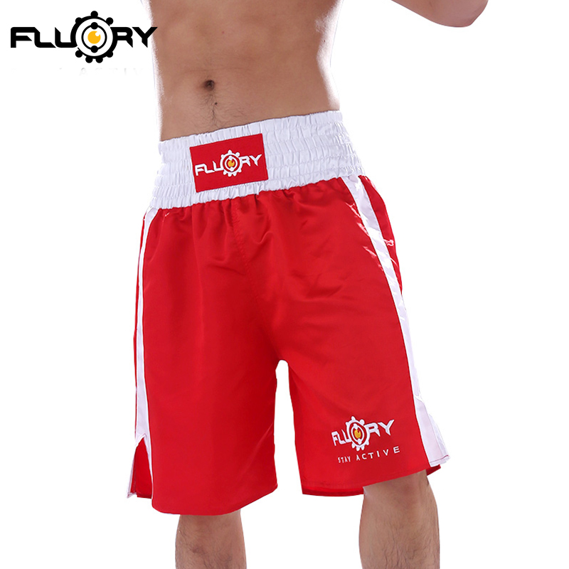 FLUORY Muay Thai Shorts Tassel Style MMA Boxing Tranning Shorts for Men and Lady