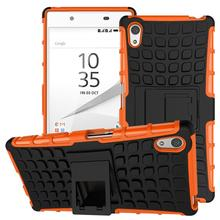 Buy Anti shock Rubber+PC spider case Sony Xperia Z5 E6603 E6633 E6653 rugged heavy duty armor design kickstand back cover for $2.90 in AliExpress store
