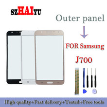 SZHAIYU For Samsung J7 J700 LCD Display Screen Replacement Parts Outer Glass Front Lens Cover