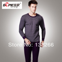 2017 Male underwear full 100% cotton long johns set thermal underwear cotton sweater print set