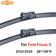 QEEPEI Wipers Blade For Ford Focus 3 2010-2016 28''+28''R Car Accessories For Auto Rubber Windshield Wiper Prices CPC117