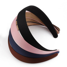 2017 Fashion Simple Girls Headband Satin Covered Resin Hairbands Ribbon Covered Female Headbands Women Hair Accessories(China)