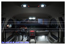 8pcs Car LED Bulbs Interior light kit white for Audi A3 S3 8L 1996-2003 Canbus LED Bar Dome Reading Trunk lamps