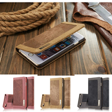 "i6 6S 4.7"" Coque Fashion Brand levis Denim Back Case Cell Phone Goophone Jean Cover Capa Wallet Flip Cover With Card Slot Caseme(China)"