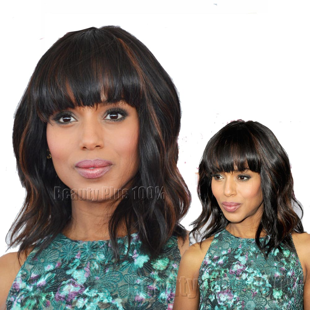 Strong Beauty Cheap Perruque New Hair Style Dark Brown Highlight Synthetic Short Kinky Curly Wigs For Black Women<br><br>Aliexpress