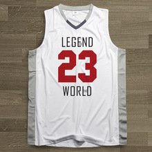 SYNSLOVEN design Men Basketball Jersey top Uniforms world legend no.23 micheal jordan Sports clothing mesh Breathable plus size(China)