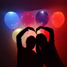 SOLEDI 5pcs LED Light Glowing Air Balloon Globos Party Decoration Birthday Balloons Ballon Helium Party Inflatable Balls