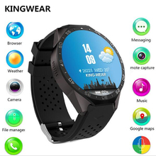 KINGWEAR KW88 Smart Watch phone 1.39 Inch Amoled screen Android 5.1 MTK6580 Quad Core Smartwatch 3G WiFi Heart Rate PK Y3 LES1(China)