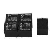 5 Pcs 5Vdc 250Vac 10A 4 Terminal Spst No High Quality Mini Power Coil Electromagnetic Relay