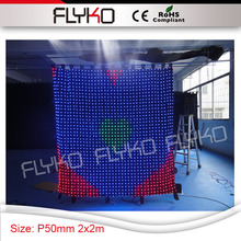 dj booth customized hot demension P5 black wall RGB 3in1 led lights display video curtain stage cloth for bar table