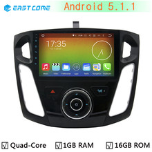 "9"" HD 1024X600 Quad Core A9 Android 5.1.1 Car DVD Player For Ford Focus 3 2012-2015 2GB RAM 16GB Flash GPS Radio Stereo System"