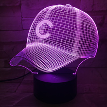 Color Change led light Baseball hat 3D Table Lamp household Desk Accessories luminaria nightlamp Lampen Battery-powered Lamparas