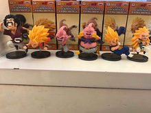 6pcs/set Anime Dragon Ball Z The Historical Characters WCF DragonBall  PVC Action Figure Resin Collection Model Toy Doll Gifts