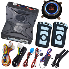 keyless entry remote start system start stop button 15 minutes count down time engine off smart key switching(China)