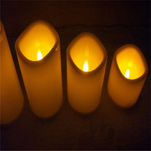 1pcs flameless gel wax candle light battery power led tea light candles romantic wedding candle lamp