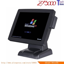 warranty 1 year new 4 units/lot white 15 inch capacitive touch Screen all in one POS Terminal With MSR card reader(China)