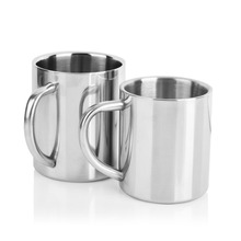 Coffee-Mug Tea-Cups Travel-Tumbler Milk Office Stainless-Steel Double-Wall 300ml Portable