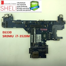 For Dell Latitude E6330 laptop motherboard QAL70 LA-7741P 0D3RGW i7-3520M SR0MU CPU
