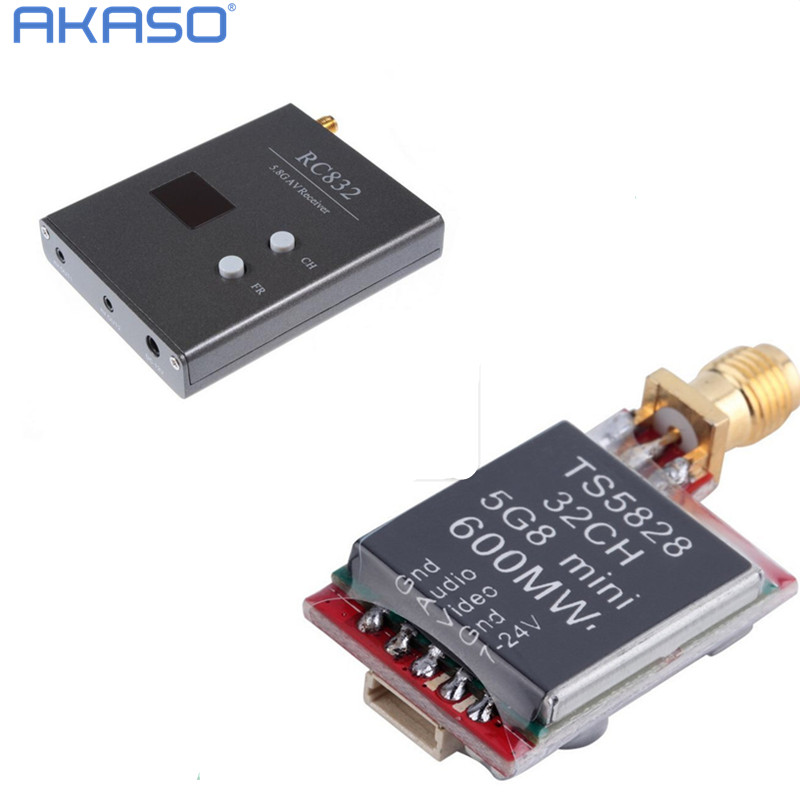 TS5828 5.8Ghz 600mW 32 Channels Wireless AV transmitte + RC832 40Ch 200mw  5.8G AV Receiver for quadcopter FPV Combo System Kit<br><br>Aliexpress