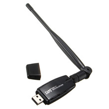 New Arrival 300Mbps Wireless USB WiFi Network Card 802.11 B/G/N  LAN Adapter Dongle With Antenna For PC Laptop