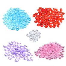 500 Pcs  8mm/10mm Clear Acrylic Crystal Bling Transparent Confetti Wedding Party Decoration Wedding Table Diamond High Clarity