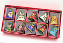 Collectibles 10pcs Chinese Handmade Cloisonne/Enamel Bell Ornament Charms Decor(China)