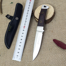 Fixed blade knife steel head + color wood Handle VG10 outdoor camping knife color wooden handle men's boutique essential tool D2