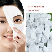 Hot Sale New 100 pcs Compressed Facial Face Cotton Mask Sheet DIY Natural Skin Care Home Easy To Make(China)