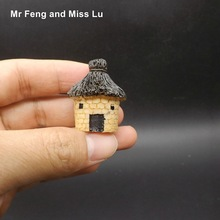Resin Stone House Cottage Model Lovely House Tiny Decoration Micro Diy Toy Kid(China)