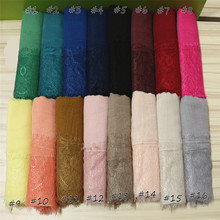 2017 Ladies Lace edges Free Shipping beautiful hijabs Scarves Women Plain/solid Cotton viscose Head Scarf oversize muffler shawl