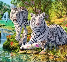 3d diamond embroidery needlework diamond mosaic tiger pictures of rhinestones hobbies and crafts material for handmade HY1661