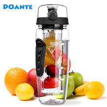 DOANTE Brand 32oz 900ml BPA Free Fruit Infuser Juice Shaker Sports Lemon Water Bottle Tour hiking Portable Climbing Camp Bottles(China)