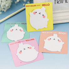 4PCS Kawaii Unique Scrapbooking Molang Rabbit Memo Pad Stickers Bookmark Tab Flags Memo Book Marker Notes Office Stationery(China)