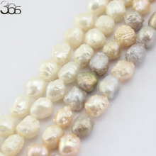 Free Shipping 7-8mm Natural Nearly Round Reborn Keshi Edsion Freshwater Pearl Beads Strand 15""