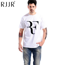HOT SALE 2017Personalized Roger Federer t shirts Fashion Men Tee Shirt Top Cotton RF logo printed t-shirt