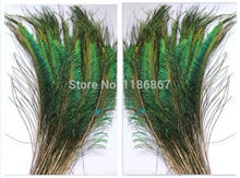 100pcs/Lot Peacock Feathers Sword Feathers 14-16 Inches 35-40cm Left or Right side(China)