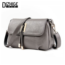 DIZHIGE Brand 2017 Summer Women Messenger Bags Genuine Leather Bags Women Handbags High Quality Sheepskin Shoulder Bags ladies