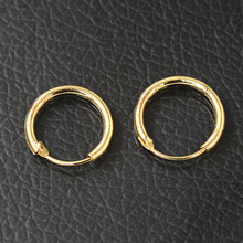Men Women Smooth Round Circle Earring Small Loop Hoop Earrings Gold Color Silver Huggie Jewelry Simple Ear Accessories(China)