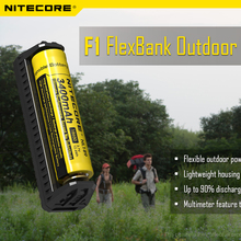 NITECORE F1 Outdoor Power Source USB Charger Power Bank IMR/Li-ion Battery Charger for 26650 18650 17670 18490 17500 17335 ETC(China)