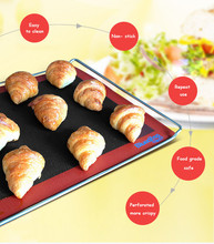 Free shipping 320 * 270 * 0.7mm or 12.6x10.63 inches Silicone Cooking Mat Bread Baking Mat Perforated with Texture Bread Baking(China)
