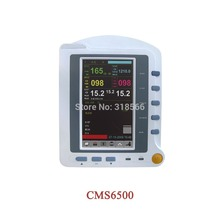 CMS6500 7'' ICU portable   Patient Monitor Vital Signs medical terminal ecg monitor nibp  spo2   facotry made in china