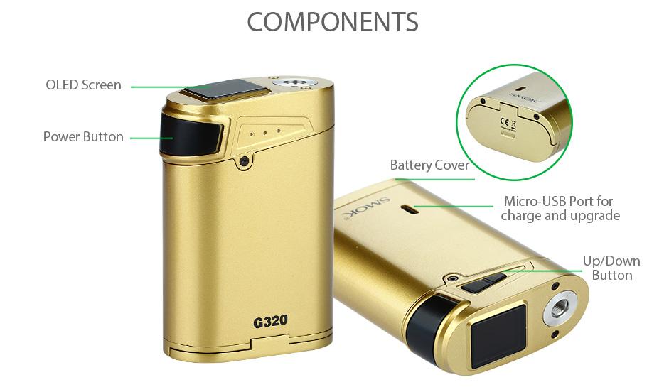 Original 3w SMOK G3 Marshal 3 KIT with 5ml Smok TFV8 Big BABY Tank Atomizer & G3 Box Mod 3w electronic cigarette Vape 6