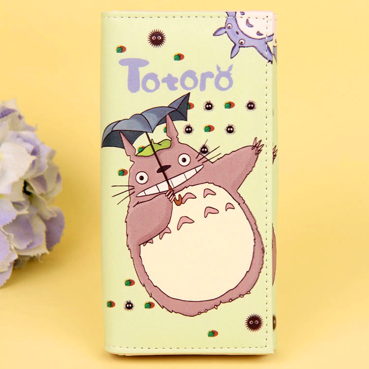 Cartoon My Neighbor Totoro Women Wallets PU Leather Students Wallet Cards Holder Women's Clutch Hasp Coin Purse Money Bags 17