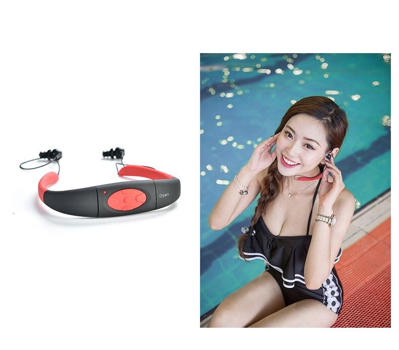 YYGXST 2017 Headset New Arrival Waterproof MP3 Sport Earphone Music Mp3 Player Neckband Underwater MP3 Headphone