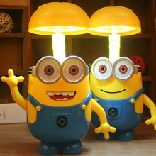 Wholesale Minions Charging Lamp Learning Lamp Minions Led Night Light Use As Money Box Minions Piggy Bank For Children Gifts(China)