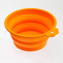 2016 Dog Bowl Comedero Perro Super Folding Bowl Out For Portable Pet Outdoor Basin To Cat Food Silicone Water(China)