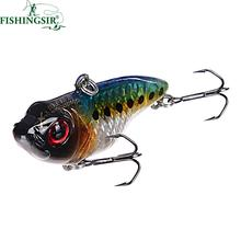 Sinking Bass Vibrator Fishing Lure 5cm 14/7g 3D Laser Eye Painted Rattling VIB Crankbait Artificial Hardbait Winter Fishing Lure