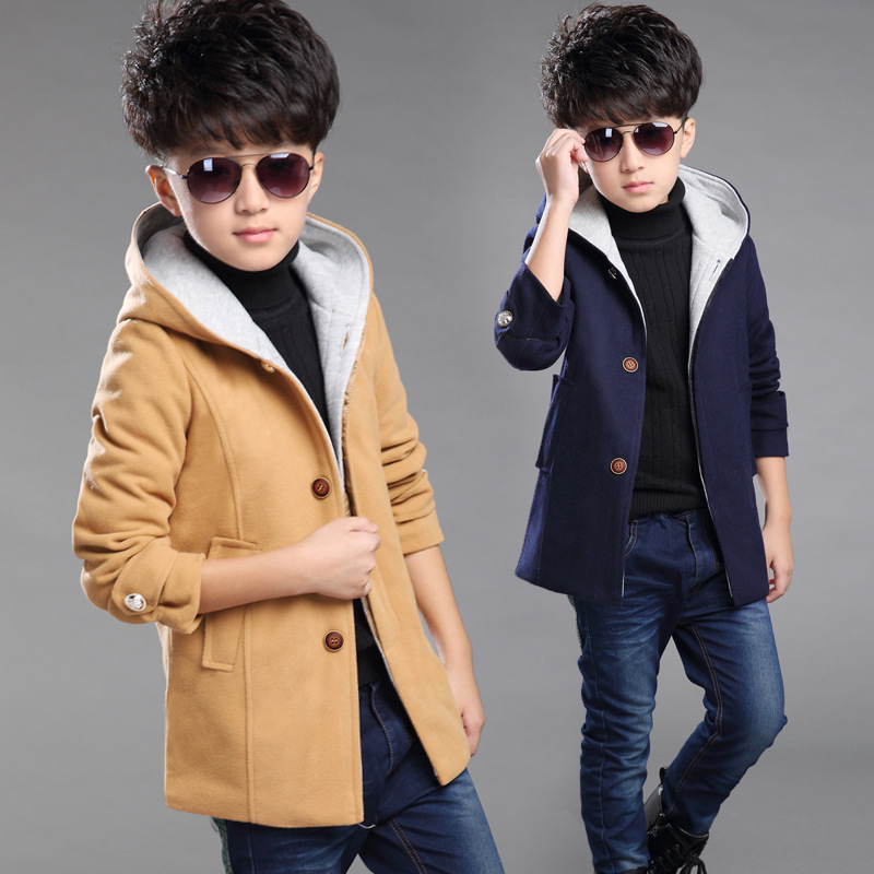 New Arrival Boys Clothes Boys Autumn Winter Jacket Korean Childrens Padded Warm Coats Boys Wool Outerwear Coats high quality<br>