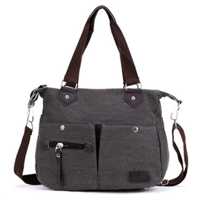 2016 Canvas Shoulder Bags Women Pocket Design Handbags Casual Travel Totes Portable Oblique Cross Zipper Shoulder Bags ZD414<br><br>Aliexpress