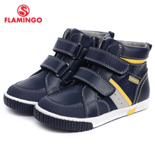 FLAMINGO 2017 new collection autumn/winter fashion kids boots high quality anti-slip kids shoes for boys W6XY111 /W6XY112